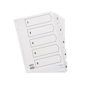 A4-White-Myler-Tabbed-Index-Dividers-For-Filing-Ring-binders-Lever-Arch-files