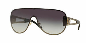 b74c63f5f545 Image is loading NWT-VERSACE-SUNGLASSES-VE-2166-12528G-PALE-GOLD-