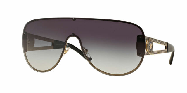 795cd0b6ebe0 NWT VERSACE SUNGLASSES VE 2166 12528G PALE GOLD GREY 100 % AUTHENTIC 41 MM