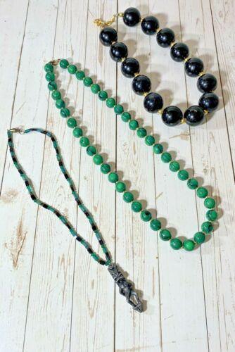 "80's 90""s Jewelry 3 Necklaces Lot Vintage"