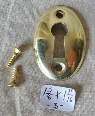 """Door Keyhole Cover Antique Oval stamped  brass 1 3//16/""""h x 1 11//16/""""w per each"""