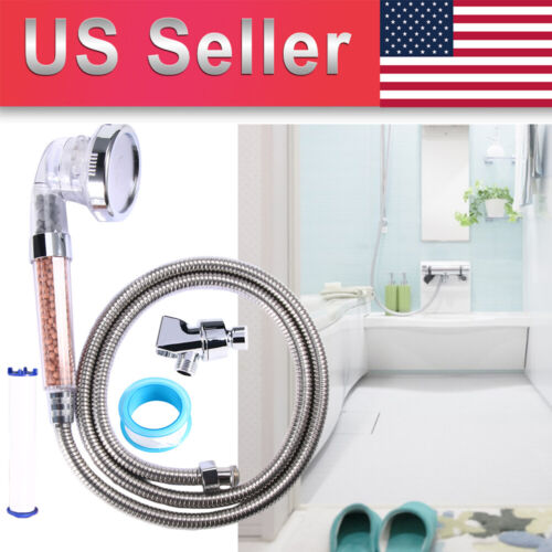 Shower Head with Hose High Pressure Handheld Ionic Filter Shower Head HOT