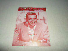 My One and Only Heart Perry Como Piano Solo Score Sheet & Music Song Voice