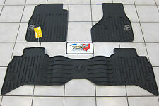 2009-2012 Dodge Ram 1500 Quad Cab All Weather Rubber Slush Floor Mats Mopar OEM