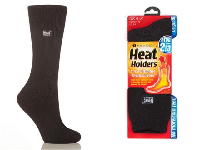 Ultimate Thermal Socks Ladies//Womens Striped Heat Holders 1 Pair