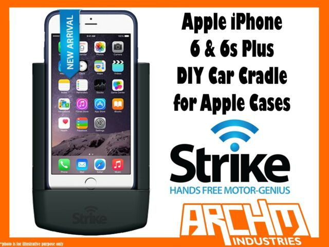 STRIKE ALPHA APPLE IPHONE 6 & 6s PLUS CAR CRADLE FOR APPLE CASE DIY FAST CHARGER