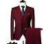 miniature 18 - Mens Suits Sets 3 Pcs Slim Fit Coats Tuxedos Groom Groomsman Formal Work Casual