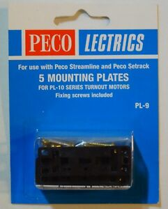 Raisonnable Peco Lectrics Pl-9 5 Mounting Plates For Pl-10 Series Turnout Motors