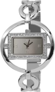 Excellanc-Damenuhr-Silber-Strass-Analog-Metall-Quarz-Armbanduhr-X152422500012