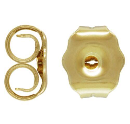 2x 14ct Gold Filled Earring Butterfly Backs Scrolls  5.1mm x 4.3mm
