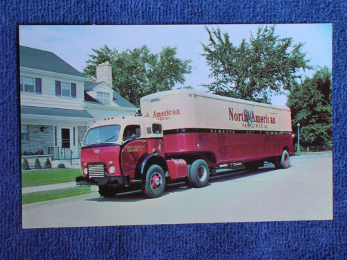 North American Van Lines Inc 1950s Moving Van Tractor Trailer RigChrome Adv. PC