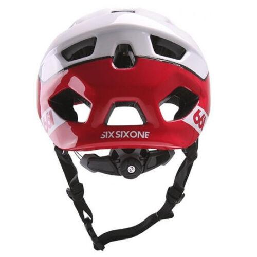 661 SIXSIXONE EVO AM PATROL MTB MOUNTAIN BIKE CYCLING HELMET RED WHITE