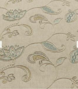 JOHN LEWIS Linen Rose Furnishing Fabric £20 Metre 140cm Wide DUCK EGG