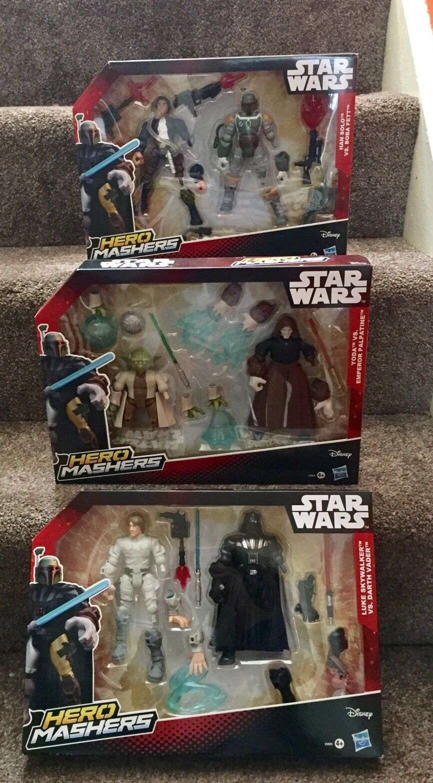 Star Wars Hero Mashers 2 Pack Bundle X3