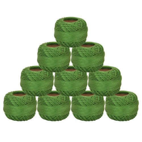 Cotton Green Thread Yarn All Purpose Thread Crochet Knitting Spool By 5 Pc
