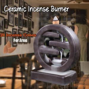 Porcelain-Ceramic-Backflow-Incense-Burner-Smoke-Cone-Censer-Holder-Home-Decor