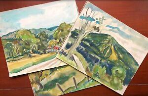 HELENA BEACHAM__Bucks County PA Artist__Lot of 3 Watercolor Paintings_SHIPS FREE