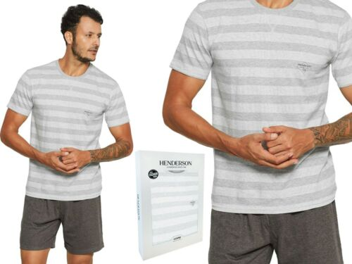 Herren Pyjama Set Schlafanzug HENDERSON Kurzarm Shorty NACHTWÄSCHE 37844-90x