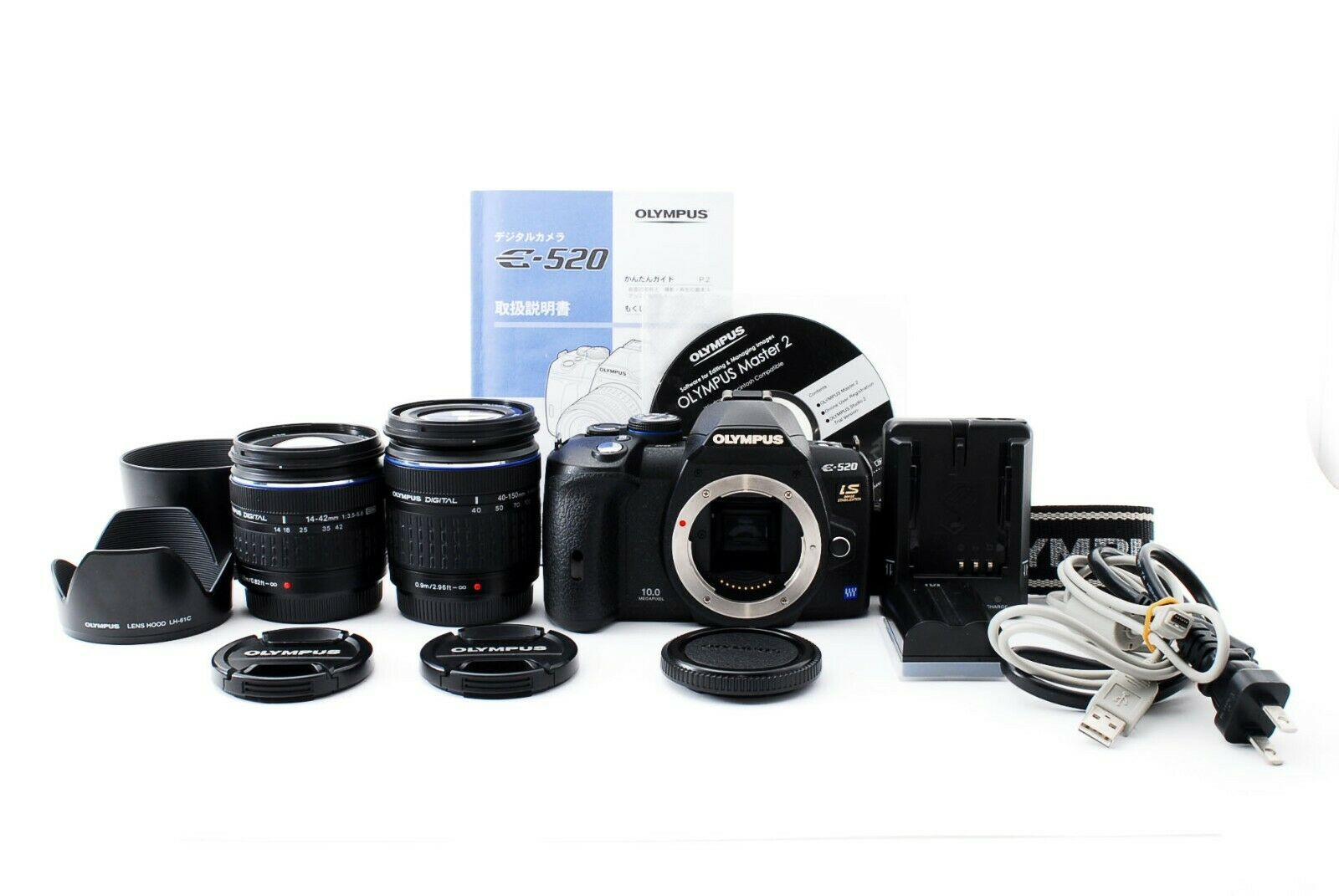Olympus Lenses 14-42mm, 40-150mm, 70-300mm Pro Digital Hard Lens Hood For The Olympus E-600 Digital SLR Camera Which Have Any Of These