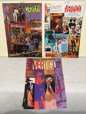 VERTIGO X PREVIEW /& VERTIGO JAM NM- VERTIGO PREVIEW DC VERTIGO LOT OF 3