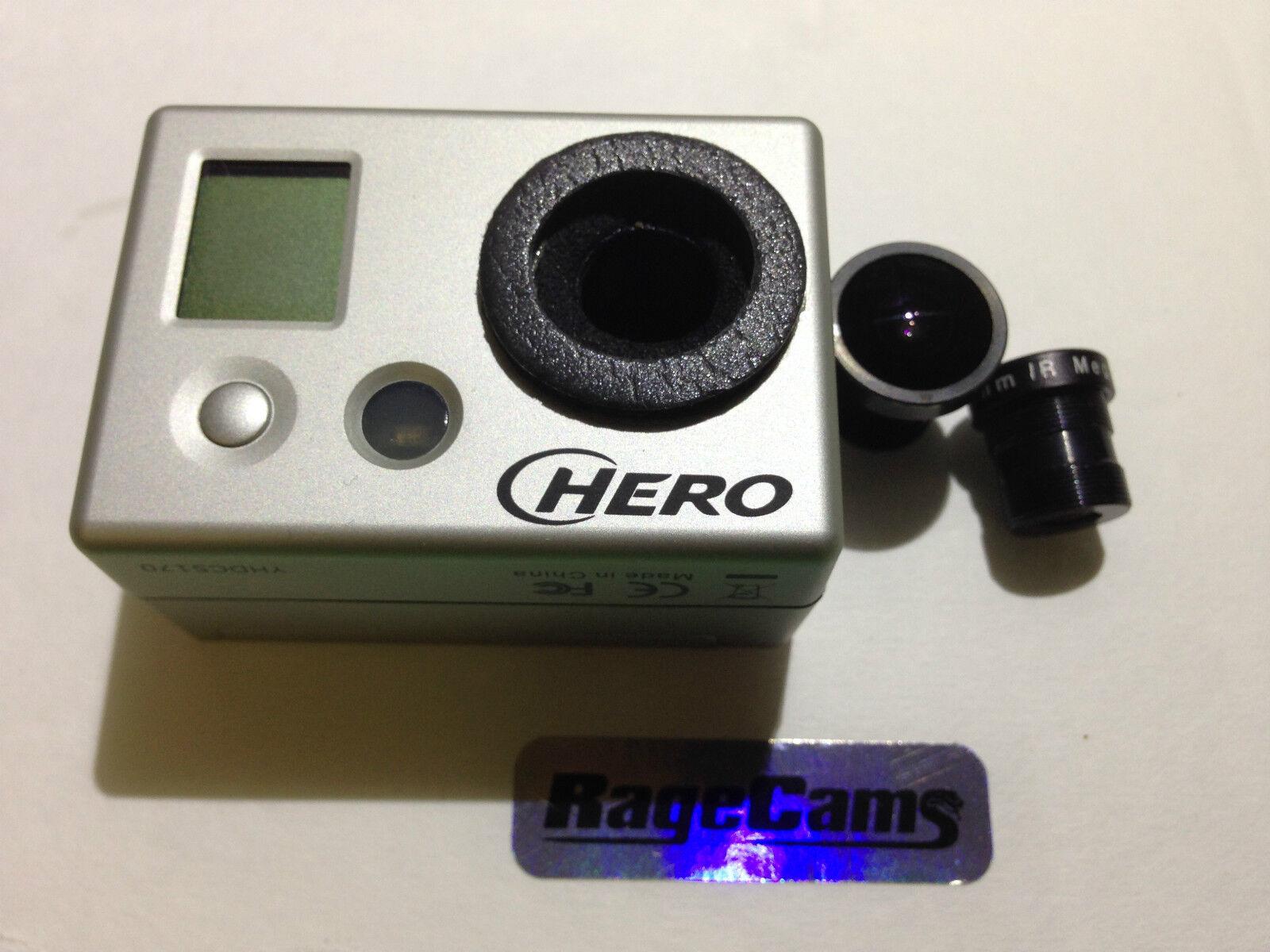 Gopro HD Hero Cámara Caza Cambio de Lentes Lentes Lentes Modificado Ragecams Zoom 12MM 903712