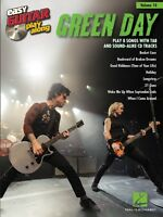 Green Day Sheet Music Easy Guitar Play-along Book And Cd 000122322