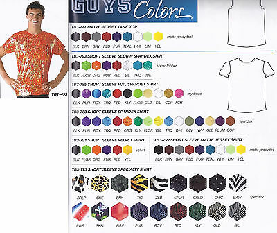 Boys Mens Dance Shirt Costume Child & Adult Fabric Print Choices