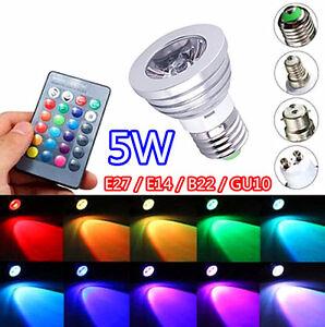 Image Is Loading 2 4 8 Pcs 5W RGB LED Bulb