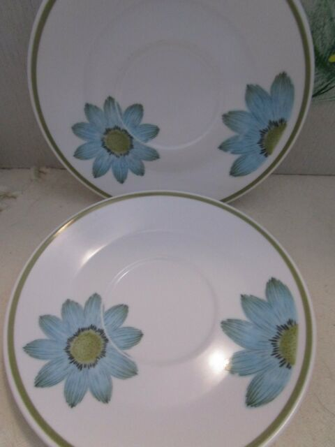 Noritake Saucer Up Sa Daisy Progression China Japan Lot of 2 Vintage 6""