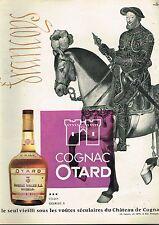 I- Publicité Advertising 1961 Le Cognac Otard