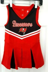 65efd78b Details about TAMPA BAY BUCCANEERS Girls Dress 3T Toddler Cheerleader  Outfit Uniform 2 Pieces