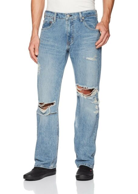 Levi/'s Men/'s 569 Loose Straight Leg Jeans Size 40 x 32 NWT Destroyed Judy Wash