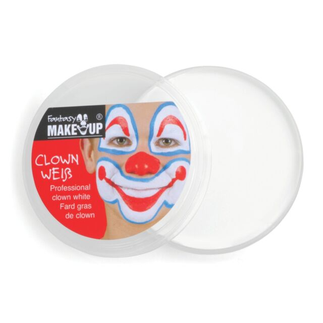 WHITE CLOWN FACE PAINT GREASEPAINT 25g Fancy Dress Stage Make Up