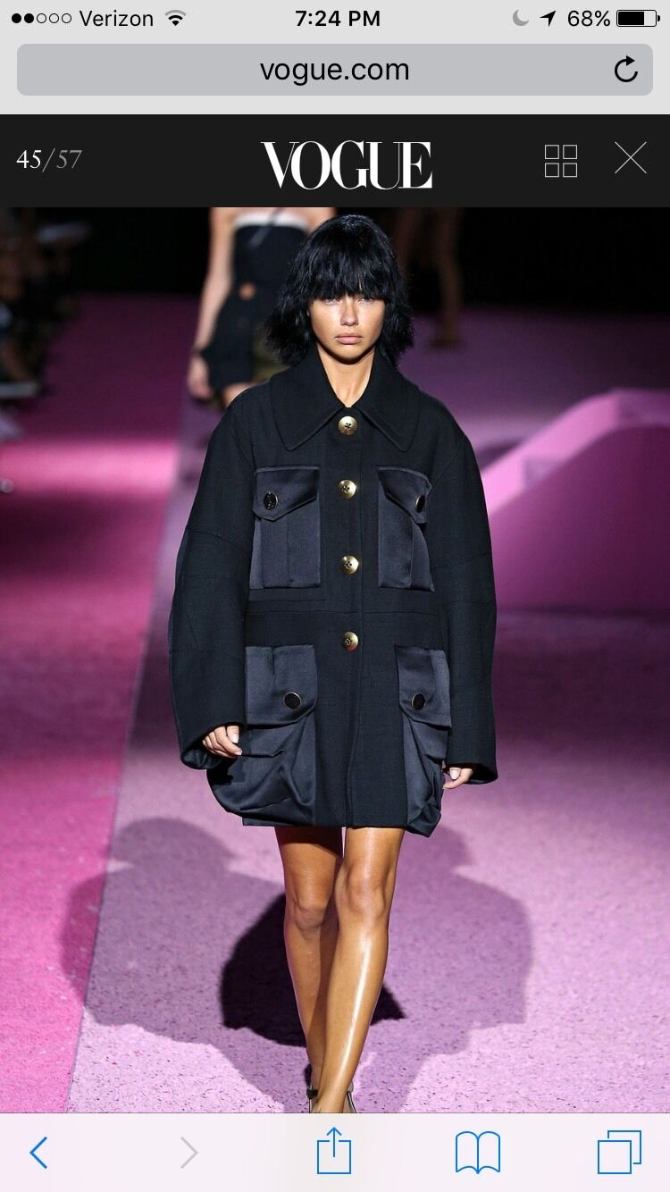 RUNWAY Marc Jacobs Collection Coat , Oversized Style