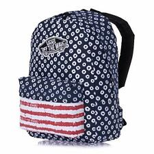 Vans Realm Classic Patch Dyed Dots & Stripe America Backpack Bookbag New NWT