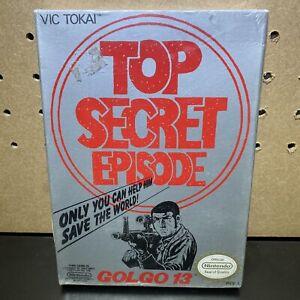 Golgo-13-Top-Secret-Episode-Original-Nintendo-NES-SEALED-H-Seam-Brand-New