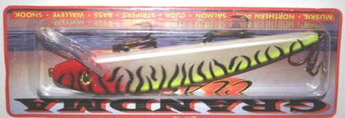 "9/"" Grandma Lure Classic Crankbait Musky Pike Tiger Clown G9-40"