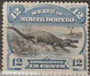 NORTH-BORNEO-1894-PICTORIAL-12c-CROCODILE-MH-CAT-RM-120