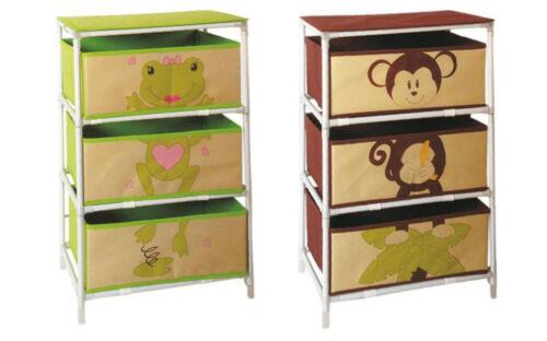 Regal mit Stoffschubladen Schubladenschrank Kinderregal Korbregal Kindermöbel