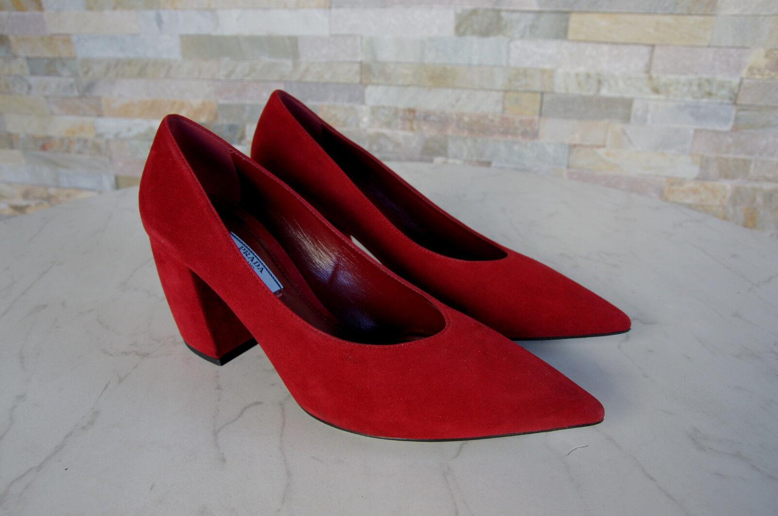 De Luxe Prada Taille 37,5 Escarpins Escarpins Escarpins Chaussures Talons Hauts 1I762H Rouge violet fbf0d2