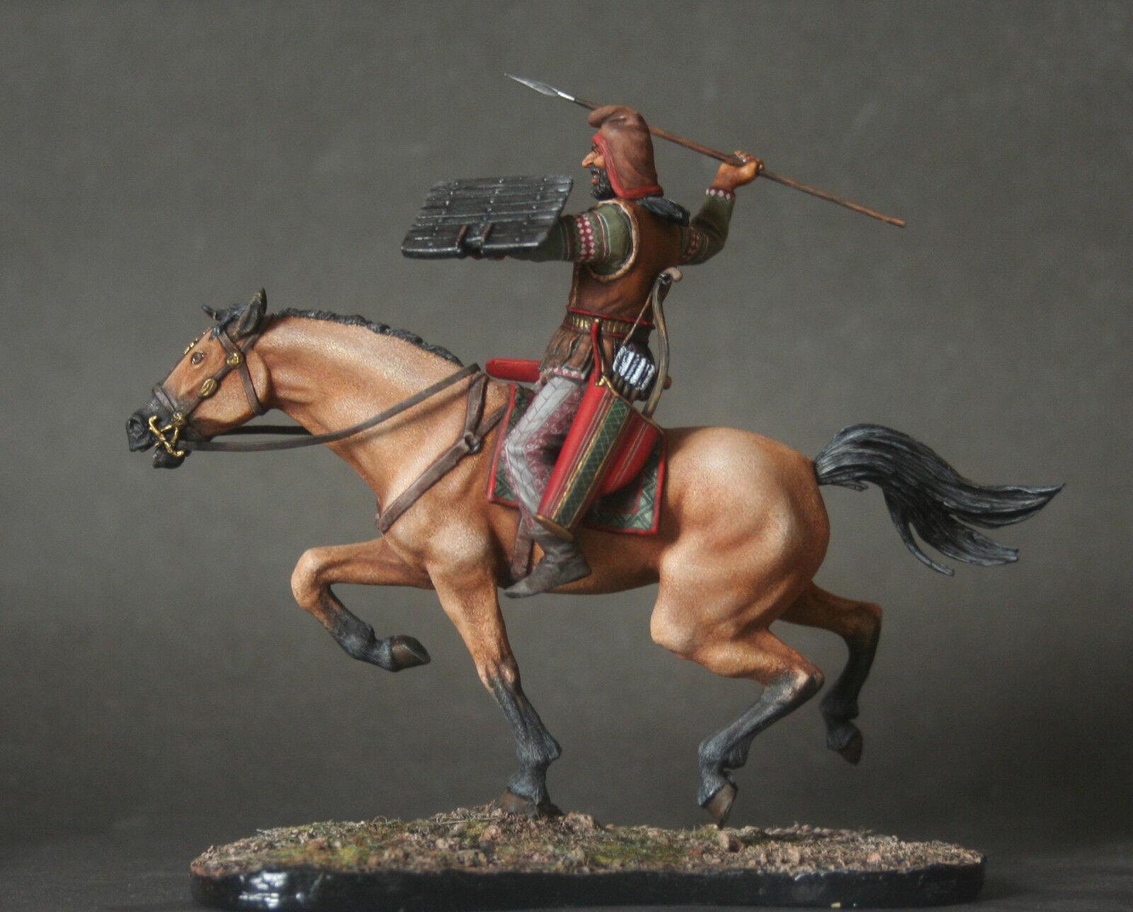 Scythian Warrior 5 c.b.. Figurine white metal Kit 54mm