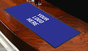 Customised-Bar-Runner-Any-Logo-Blue-Ideal-Advertising-Tool-Mat-Gift-Bar-Shop-Pub