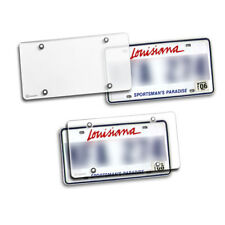 Durable Silver License Plate Shield Unbreakable Cover Zento Deals 2 Pack