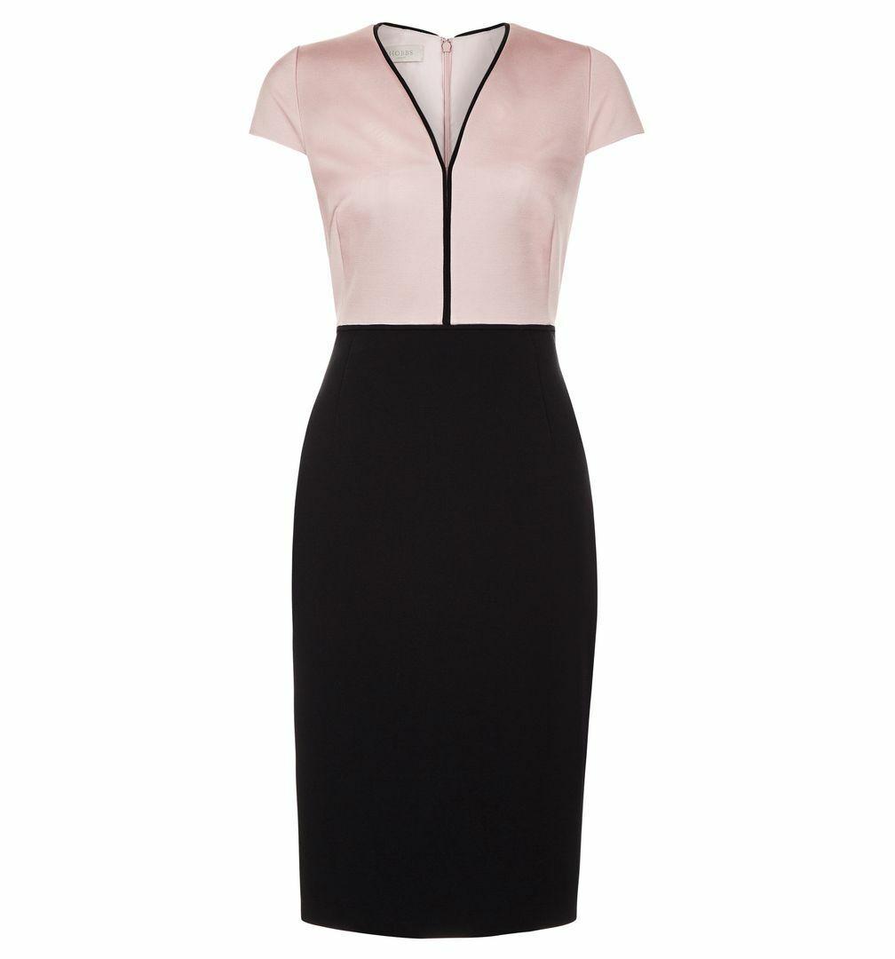Ex Hobbs Harper Dress in Rosa Größe 10