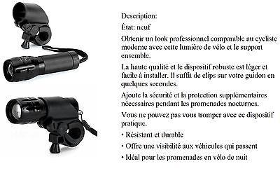 Lampe Mixte, De Poche Ou Lumière De Vélo Avec Ensemble Support (neuf) Led (b325) Gli Ordini Sono Benvenuti