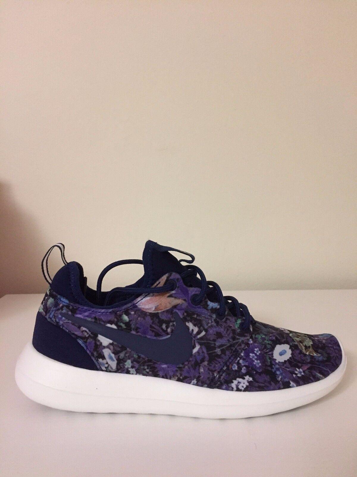 Nike Roshe Two Print Floral Binary Blue 844933-403 Wmn Sz 6.5