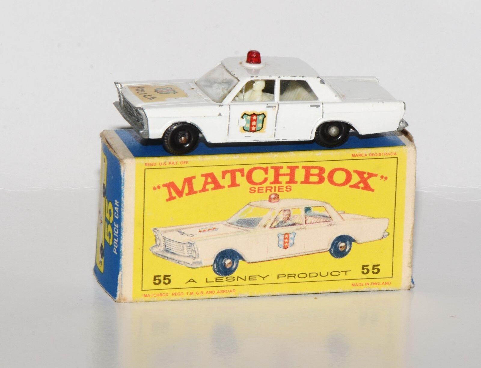 Matchbox série 1-75 No. 55-FORD Galaxie police car dans emballage d'origine