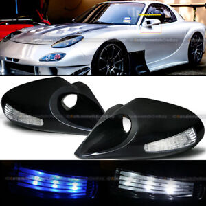 For 95-03 Cavalier 4DR M-3 Style LED Signal Powered Black Side View Mirror