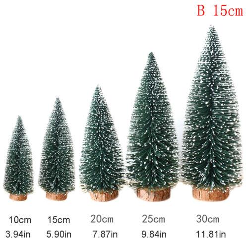 Artificial Tabletop Mini Christmas Tree Decors Festival Miniature Xmas Tree Kc