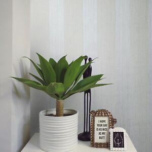 Striped-Flocked-Wallpaper-Ivory-off-White-Gray-Textured-Flocking-Velvet-Stripes